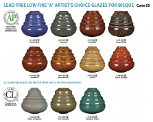 Amaco Artist Choice A-Series Low Fire Glazes