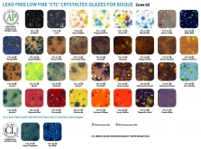 Amaco Crystaltex CTL-Series Low Fire Glazes