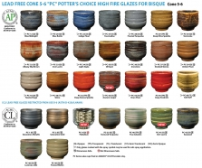 Amaco Potter's Choice High Fire Glazes