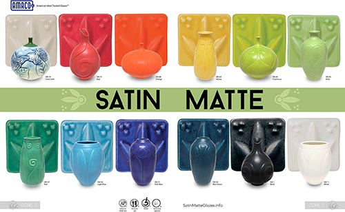 Amaco Satin Matte High Fire Glazes