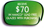 Free Amaco glazes with purchase of Brent wheel