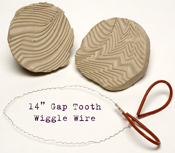 "14"" Gap Tooth Wiggle Wire"